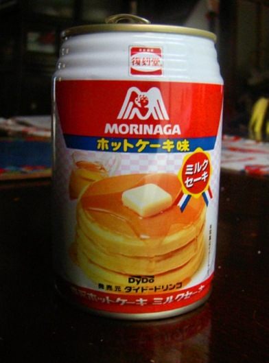 A pancake-flavored drink. I actually found this in Japan and tried it out. It tastes like Waffle Crisps with a pat of butter mixed in. Surprisingly not bad.
